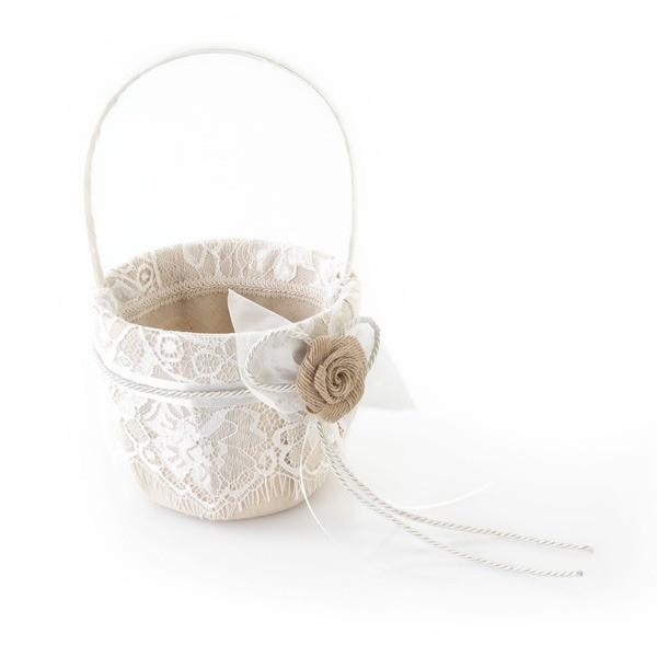 Complemento de boda cesta para las arras
