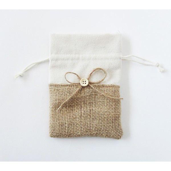 Complemento para detalles bolsa jute lacito y boton