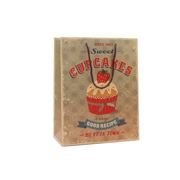 Complemento para boda bolsa papel cupcake