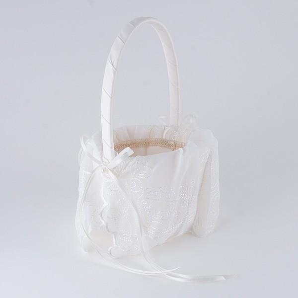 Complemento para boda cesta arras bordados