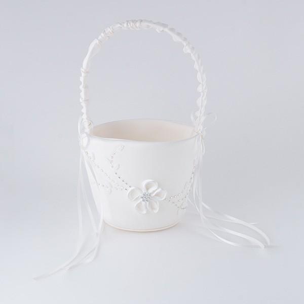 Complemento para boda cesta arras flores y brillantes