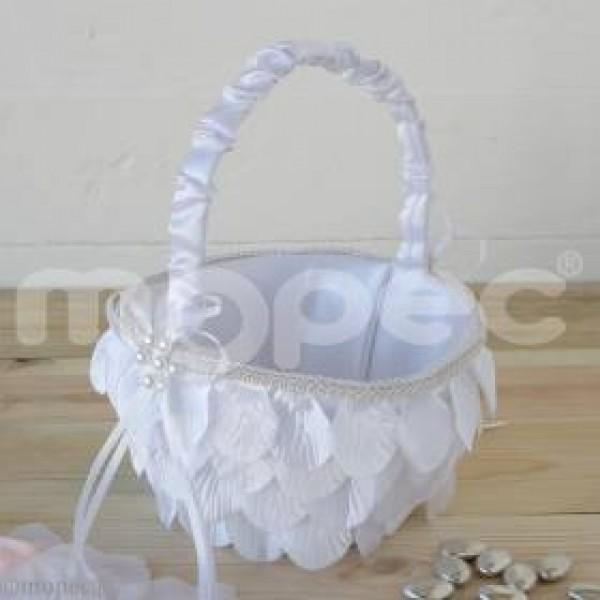 Complemento boda cesta arras pétalos