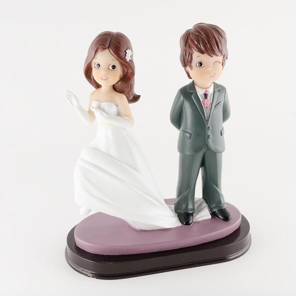 Complemento para boda pareja de novios guiño