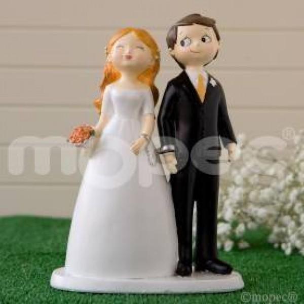 Figura para tarta novios esposados