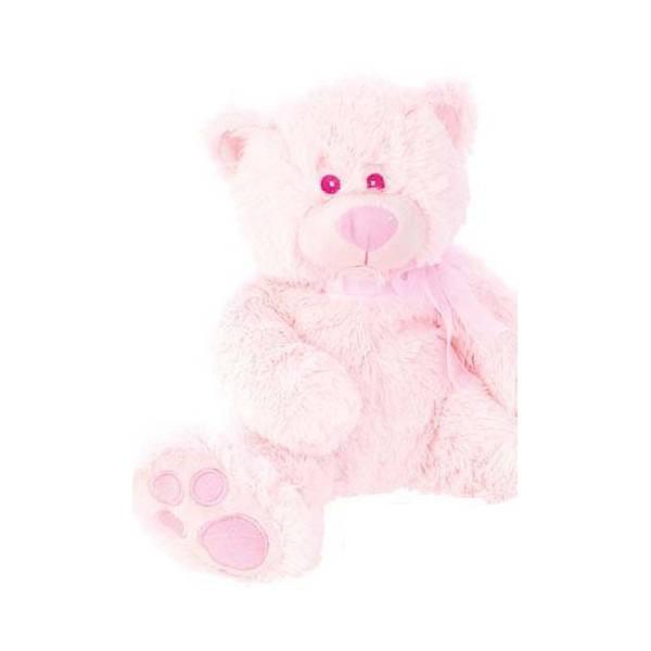 Detalle para Bautizo peluche osito rosa