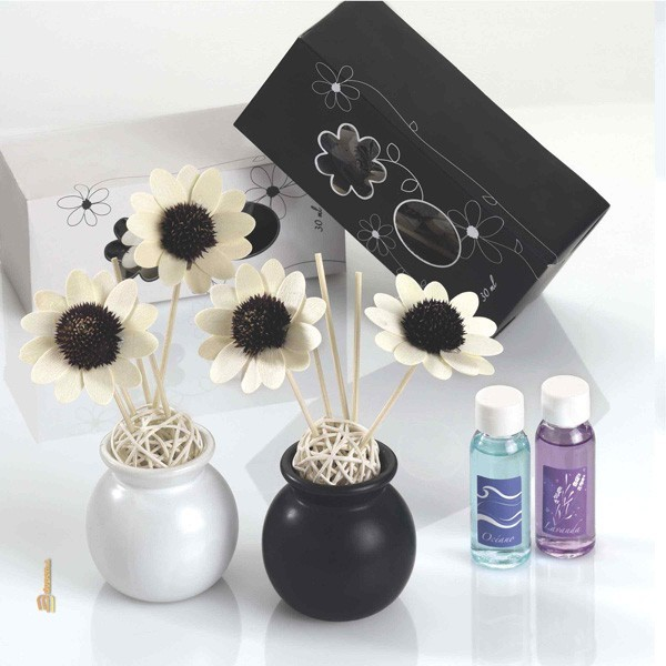 Detalle boda ambientador aroma flores