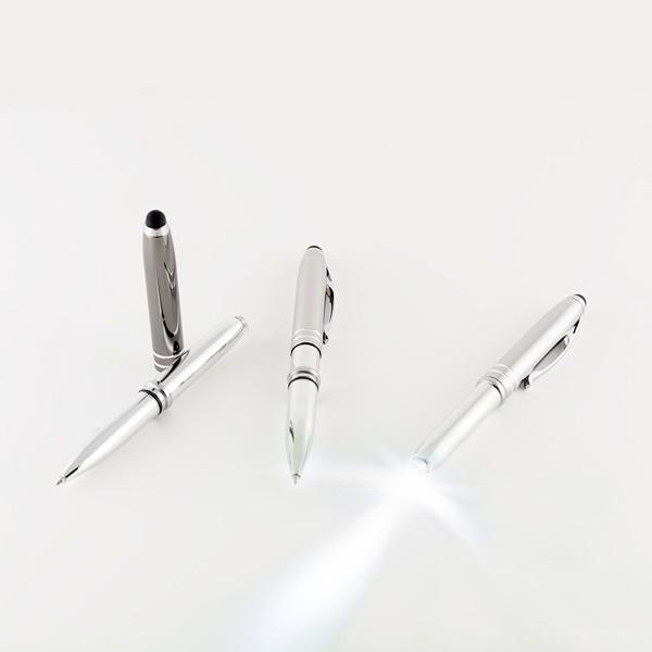 Detalle de Boda Bolígrafo aluminio con linterna y puntero