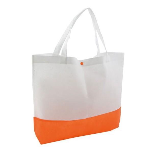Detalle Boda Bolsa Bagster Naranja/Blanco