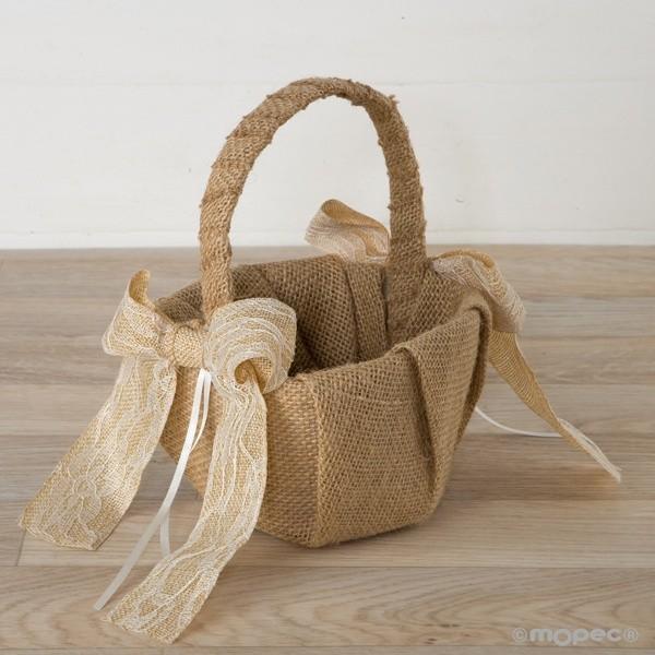 Detalle boda cesta arras rustica
