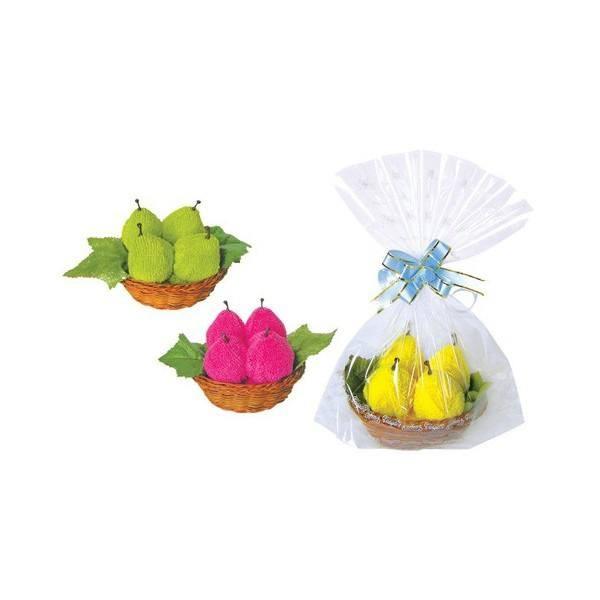 Recuerdo boda dulces peras en cesta