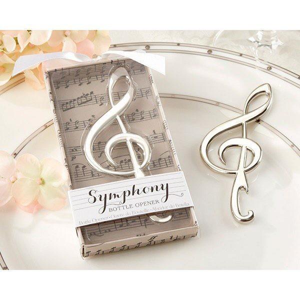 Detalle de boda abridor nota musical
