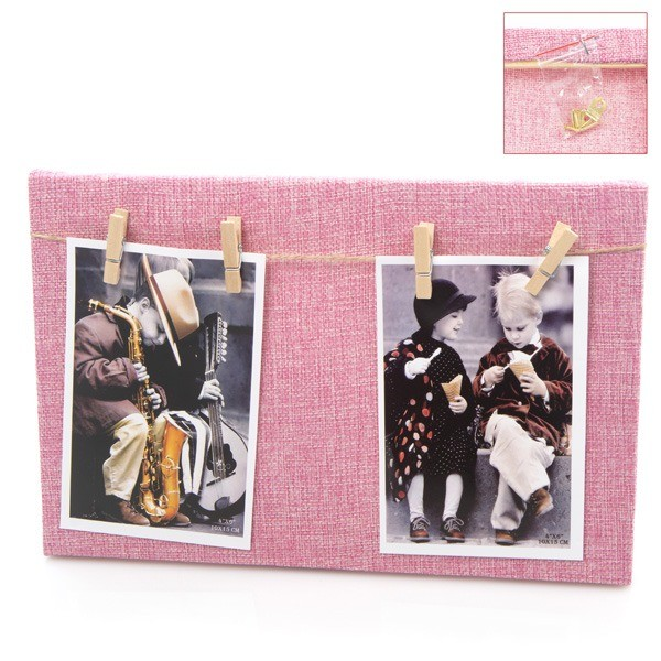 Detalle bautizo portafoto madera cuadro rosa