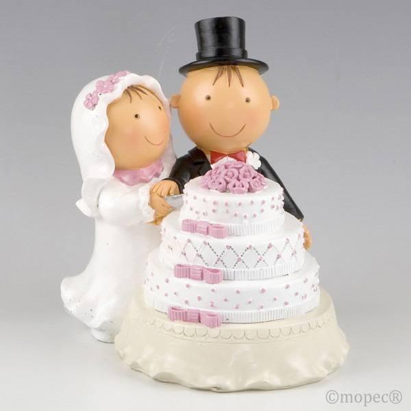 Detalle boda figura tarta pastel
