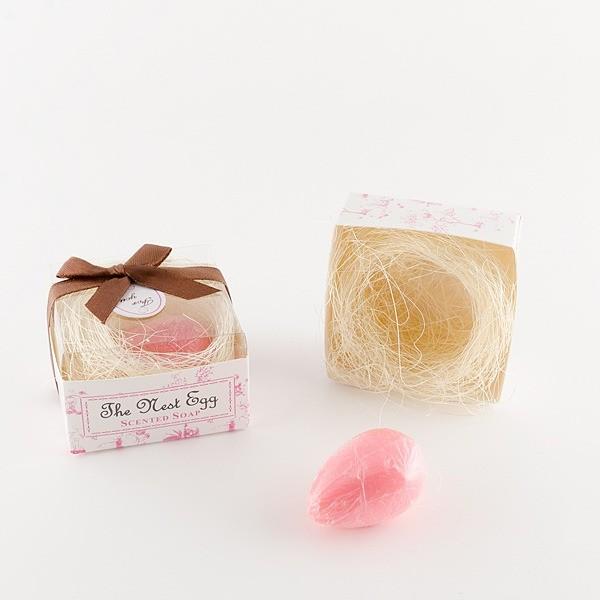 Detalle de Boda jabón huevo nido