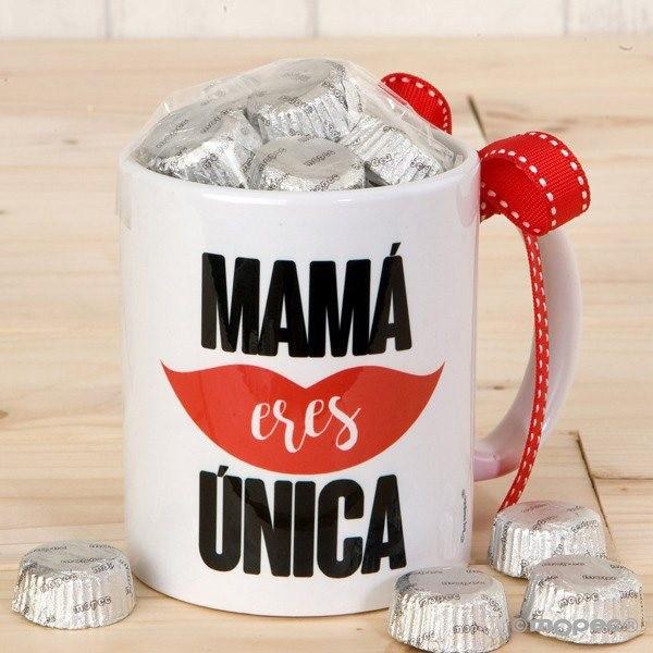 Detalle boda taza mamá con 6 bombones