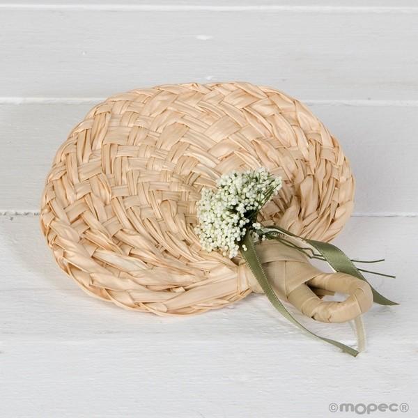 Detalle boda paipay hoja de palma adornado