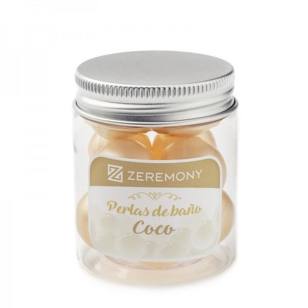 Detalle boda perlas baño de coco