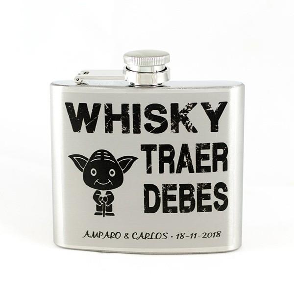 Detalle Boda petaca personalizada whisky