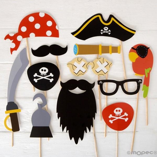 Detalle boda set postizos piratas