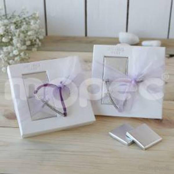 Detalle boda pulsera cruz en caja
