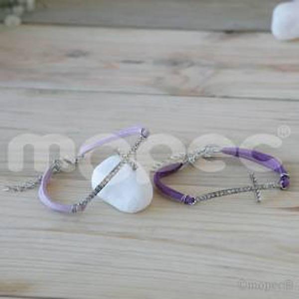 Detalle boda pulsera cruz diamantes