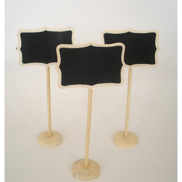 Complemento para boda soporte identificador rectangular pizarra
