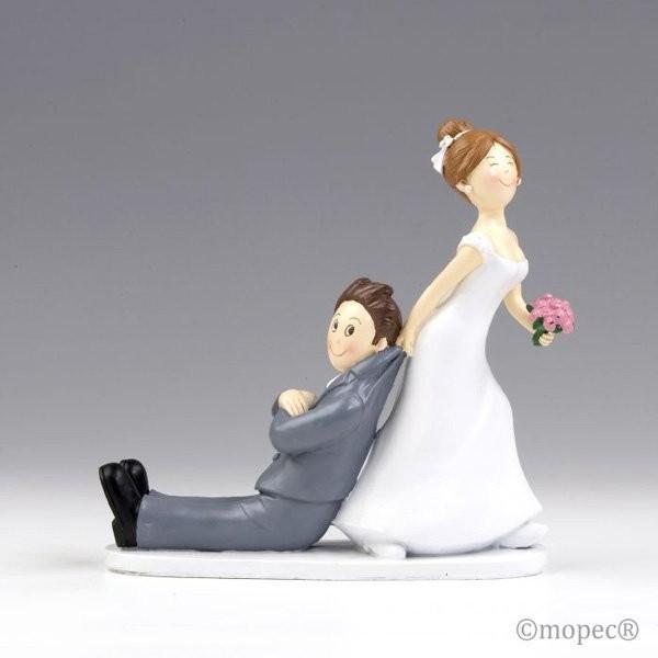 Detalle boda figura tarta novios Sí o Sí