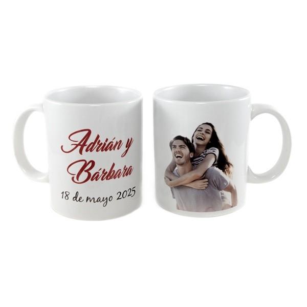 Detalle boda taza con foto personalizada