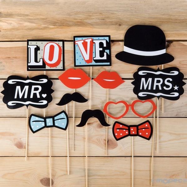 Detalle boda set postizos boda vintage