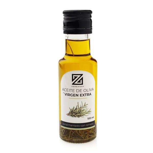 Botella de aceite condimentada con romero para comunión