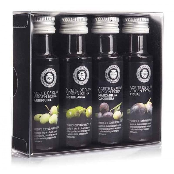 Detalle comunión caja cuatro sabores aceite de oliva