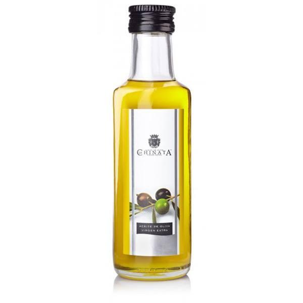 Detalle comunión aceite oliva en botella pequeña cristal