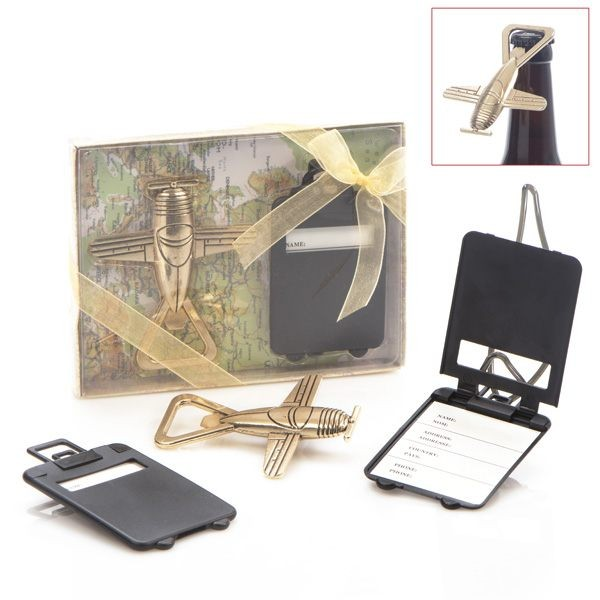 Set abridor mas tarjeta maleta para detalle comunión hombre