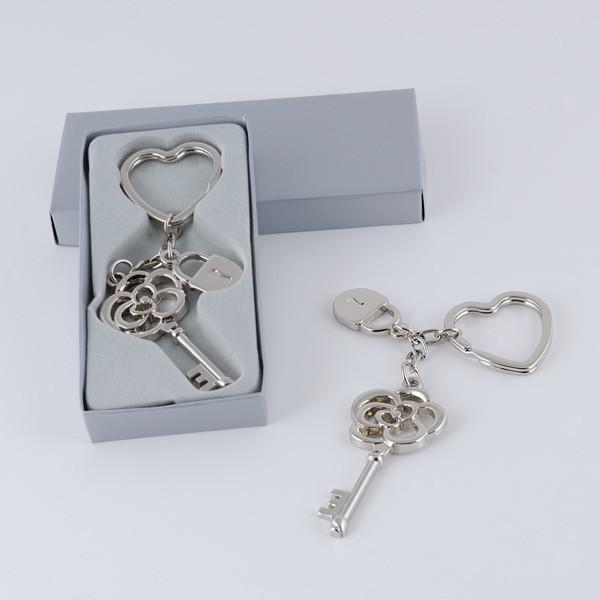 Llavero llave flor candado para comunión