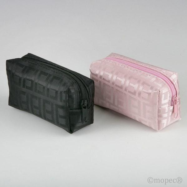 Detalle comunión bolsita cremallera rosa y negro