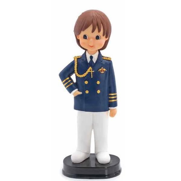 Detalle de Comunión figura tarta niño almirante