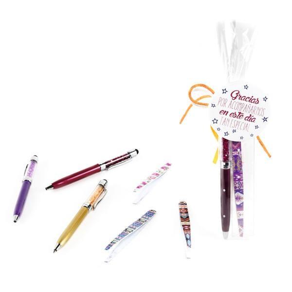 Detalle comunión bolígrafo puntero con pinza