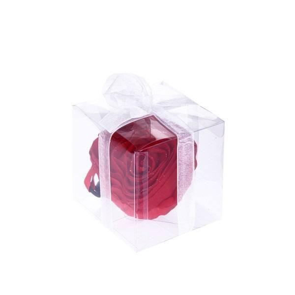 Detalle Boda bolsa plegable rosa en cajita y lazo