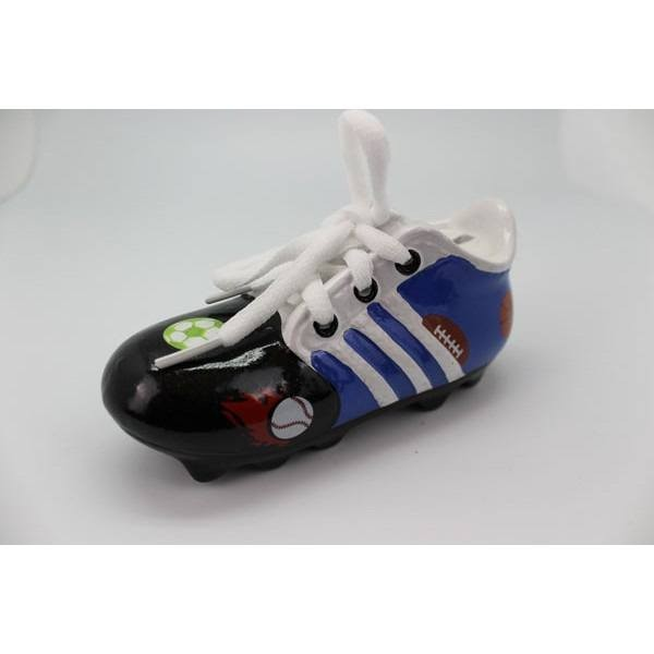 Detalle para niños hucha zapatilla futbol
