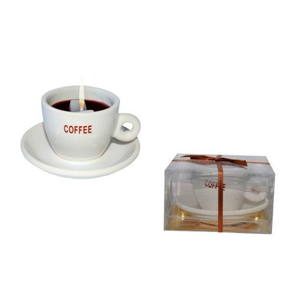 Detalle para boda vela taza de cafe
