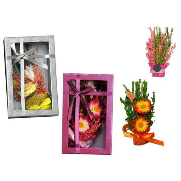 Detalle para boda ambientador de flores con iman