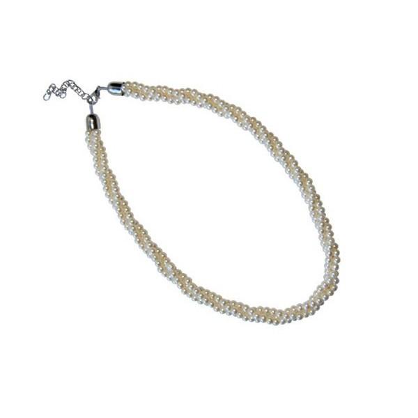 Detalle para boda colgante triple perlas blancas