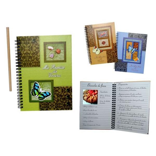 Detalle para boda cuaderno de cocina con lapiz