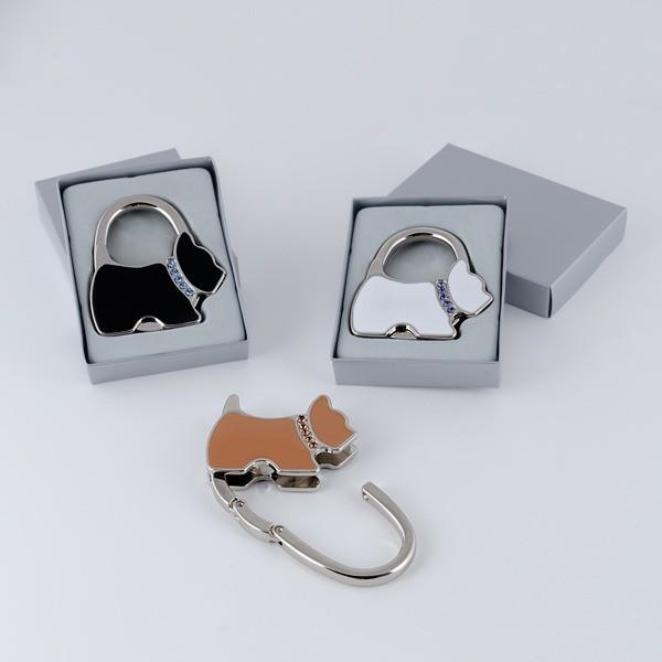 Detalle para boda cuelga bolsos perro collar brillantes plegable