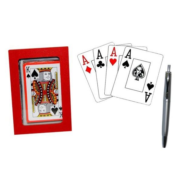 Detalle para boda estuche de poker mas boligrafo