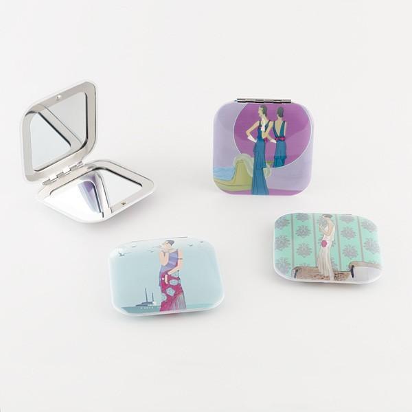 Detalle de Boda espejo doble aluminio chicas arte decora