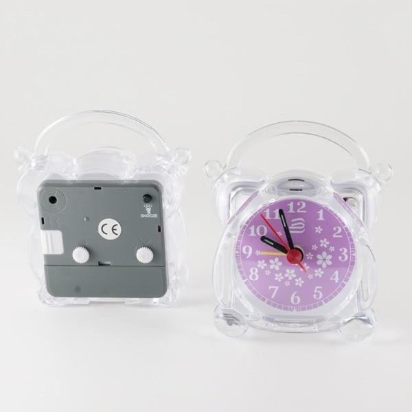 Detalle de boda reloj despertador transparente