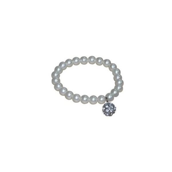 Detalle para boda pulsera de perlas blancas con llamador