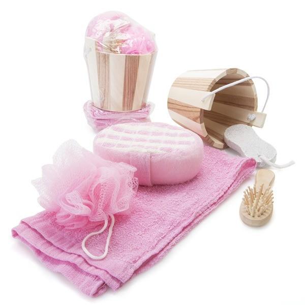 Detalle Boda original set baño con toalla