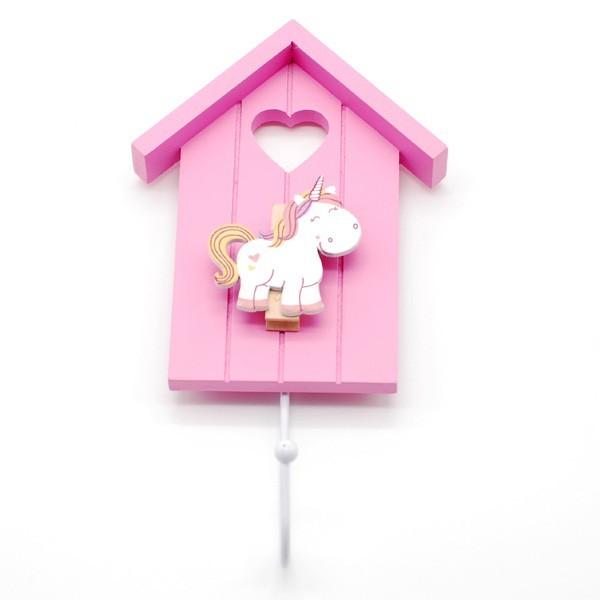 Detalle boda niños percha unicornio